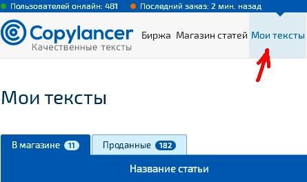 копилансер биржа копирайтинга