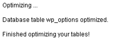 оптимизация базы данных