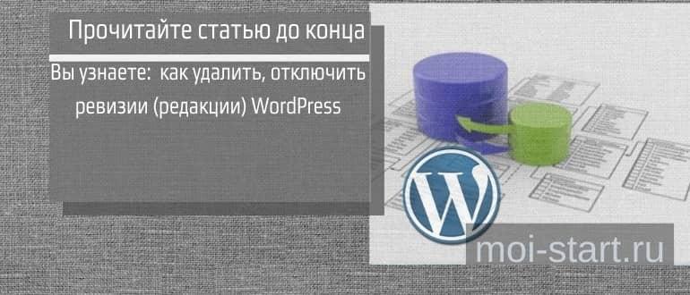 удалить ревизии wordpress