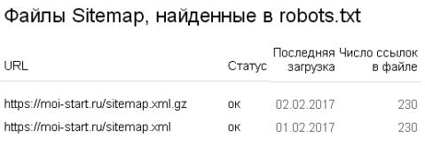 переезд на протокол https, карта Sitemap