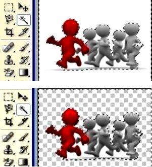 сделать, создать прозрачный фон в фотошопе