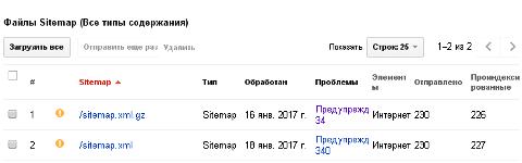 вебмастер добавить файл sitemap