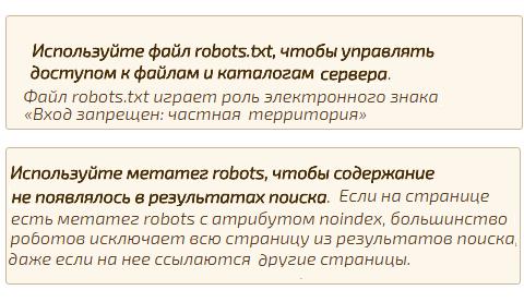 вывод метатега robots со значением noindex